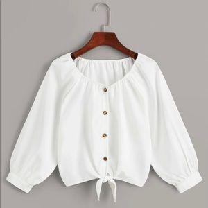 SHEIN white blouse